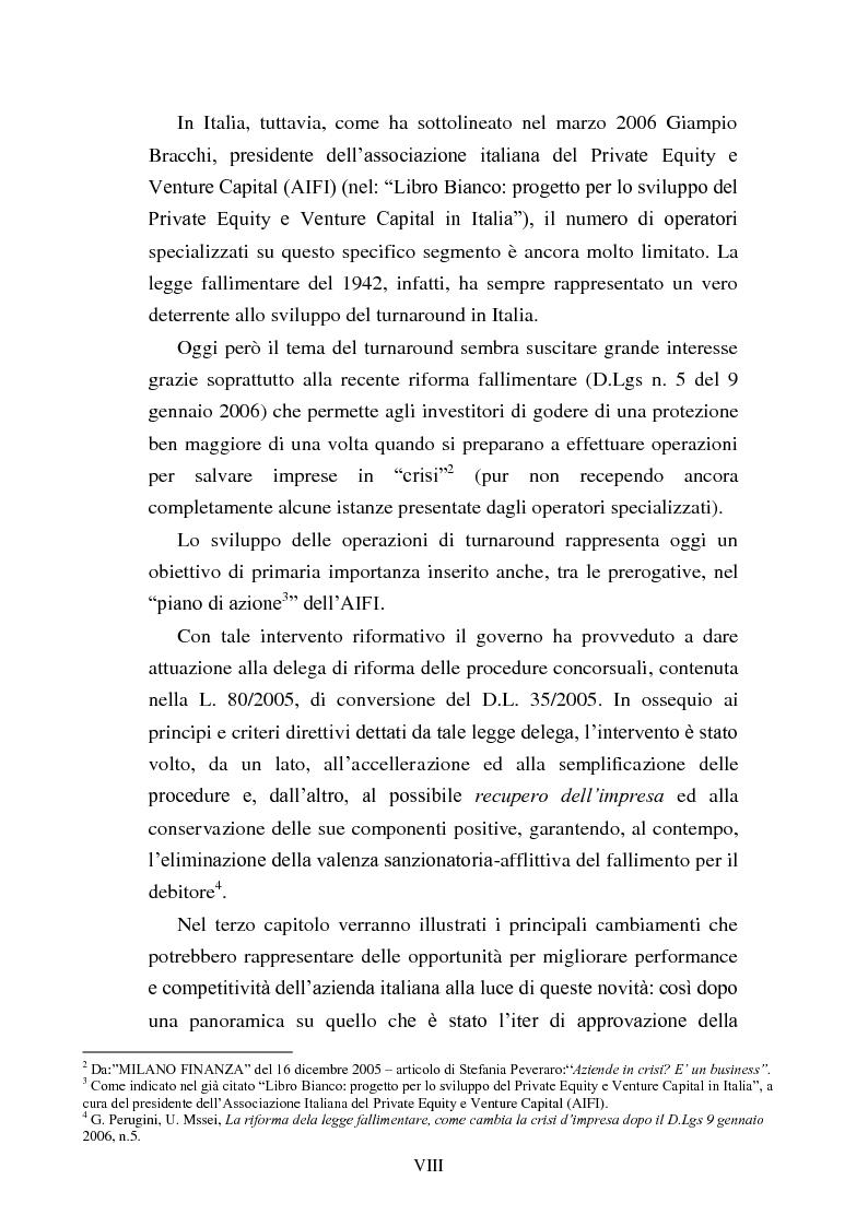 """Anteprima della tesi: Rinegoziazione del debito e ''Turnaround'': Il caso """"Piaggio"""", Pagina 4"""