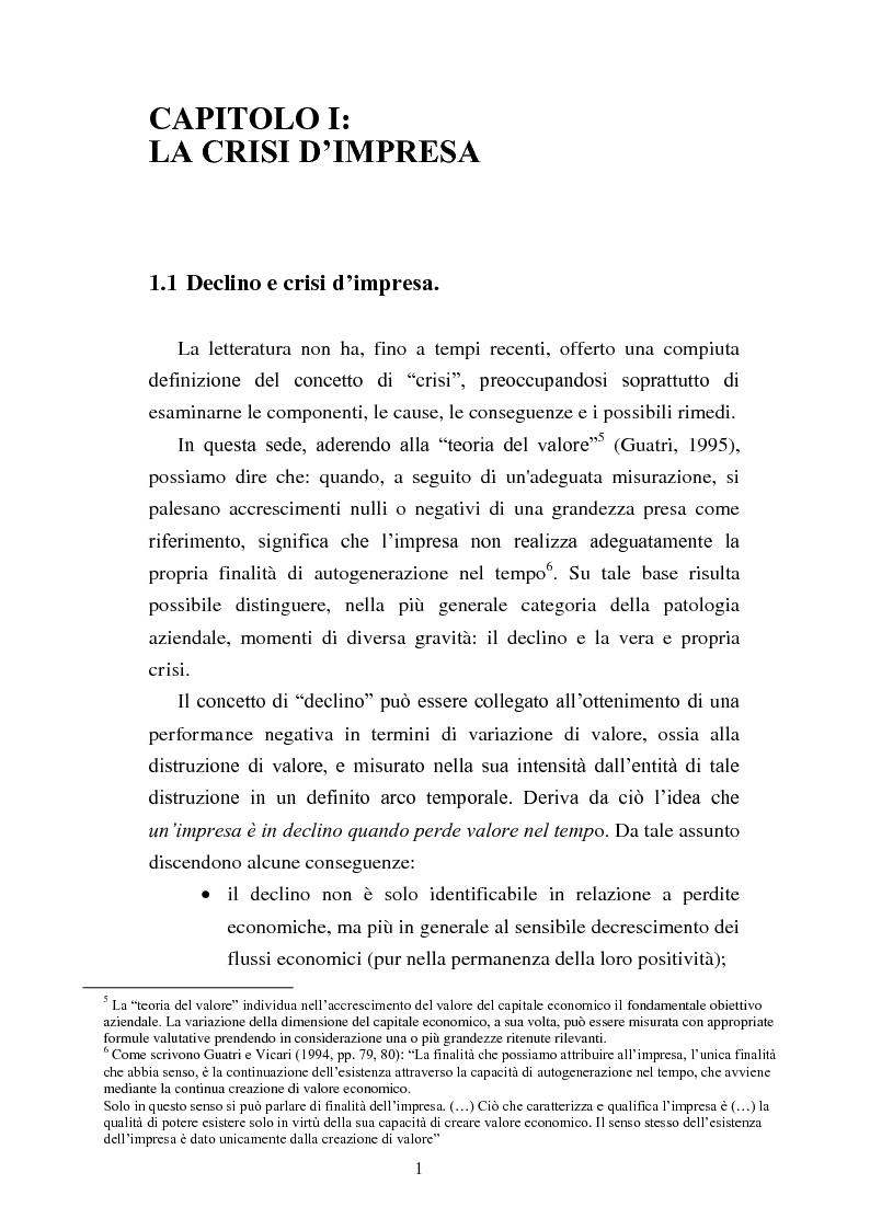 """Anteprima della tesi: Rinegoziazione del debito e ''Turnaround'': Il caso """"Piaggio"""", Pagina 7"""