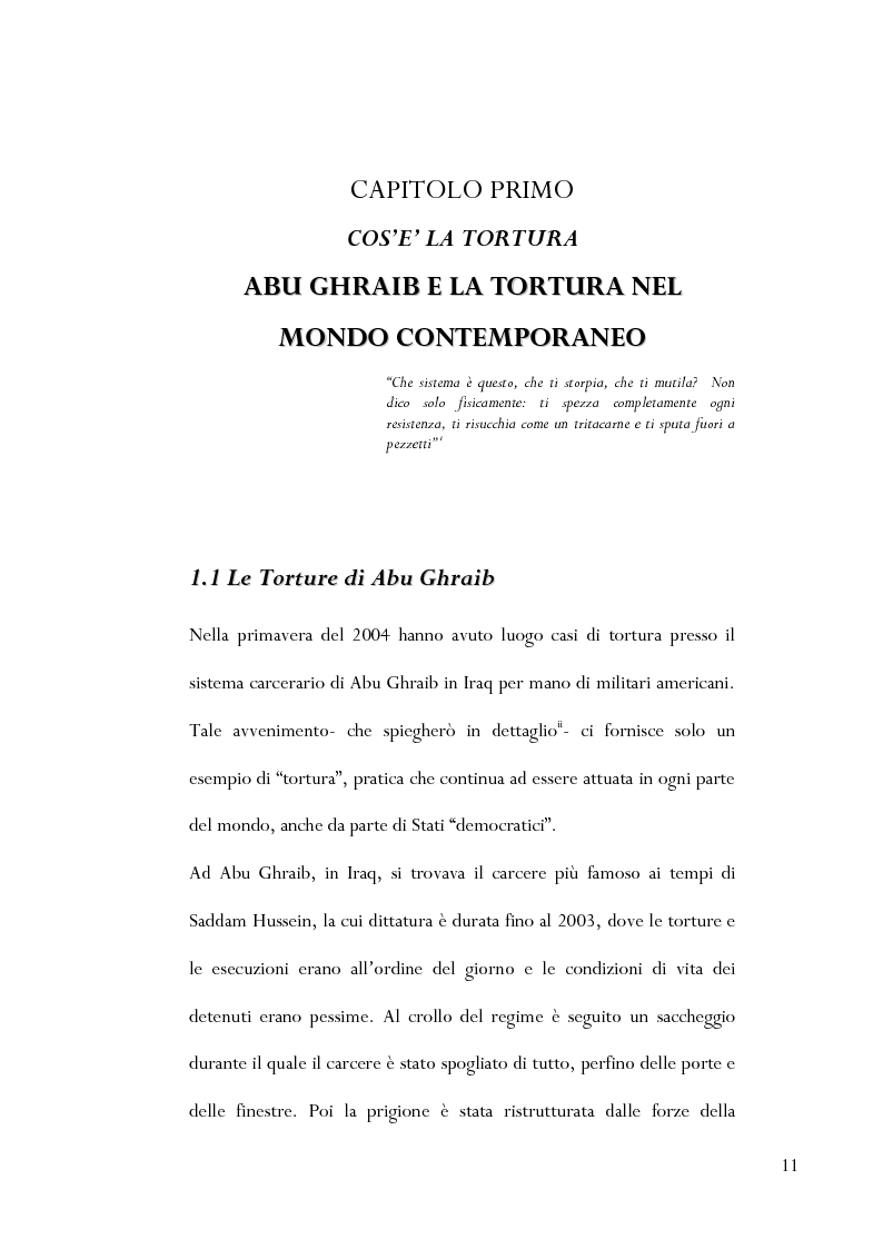 Anteprima della tesi: Le torture di Abu Ghraib nella prospettiva della antropologia della violenza, Pagina 2