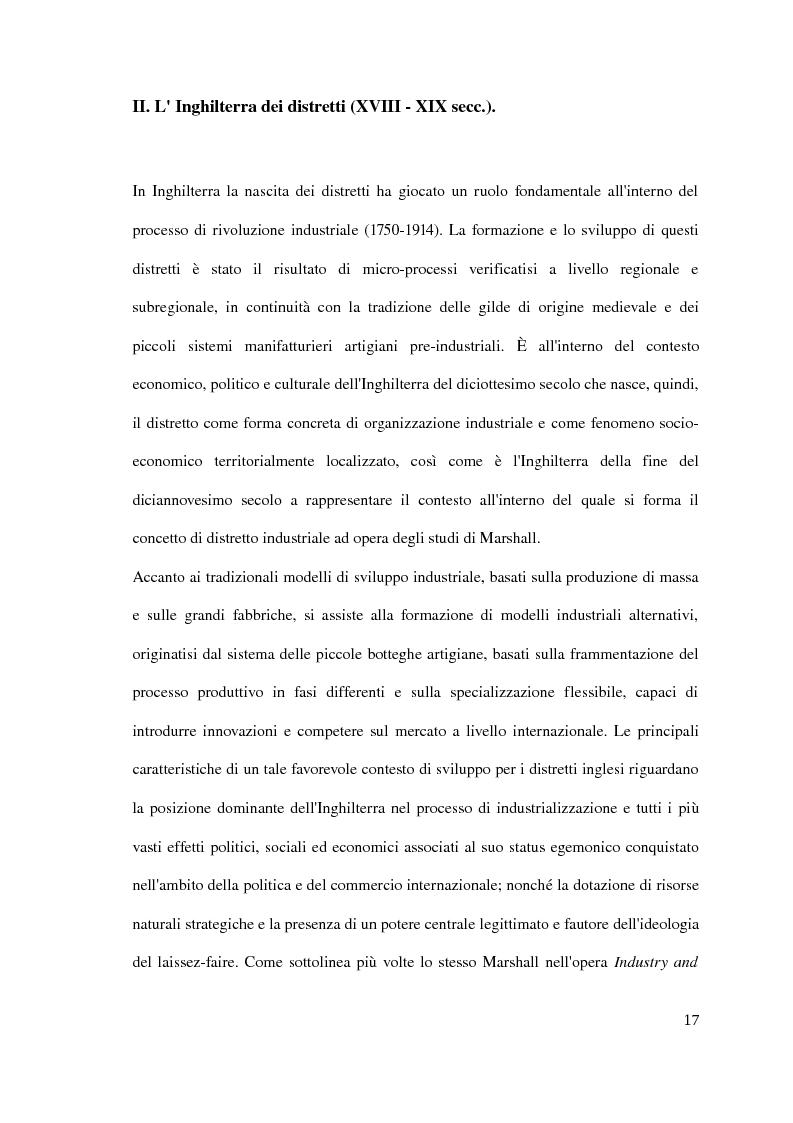 Anteprima della tesi: Il distretto industriale marshalliano, Pagina 13