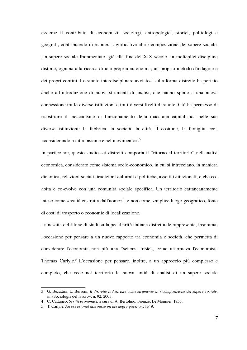 Anteprima della tesi: Il distretto industriale marshalliano, Pagina 3