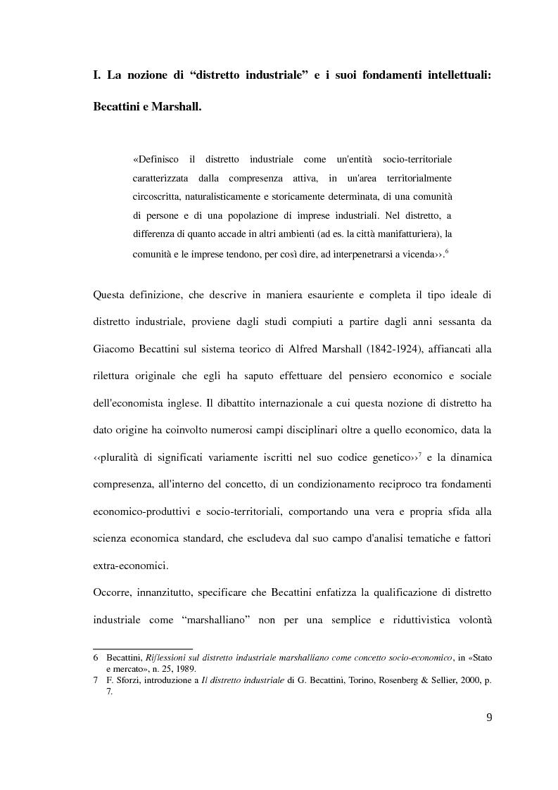 Anteprima della tesi: Il distretto industriale marshalliano, Pagina 5