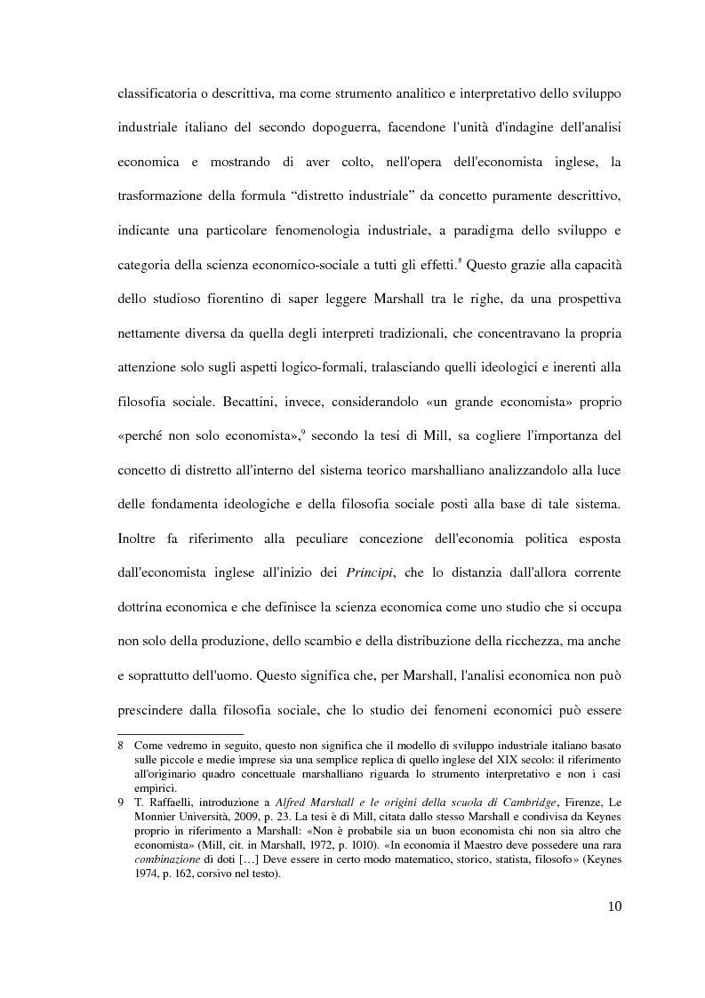 Anteprima della tesi: Il distretto industriale marshalliano, Pagina 6
