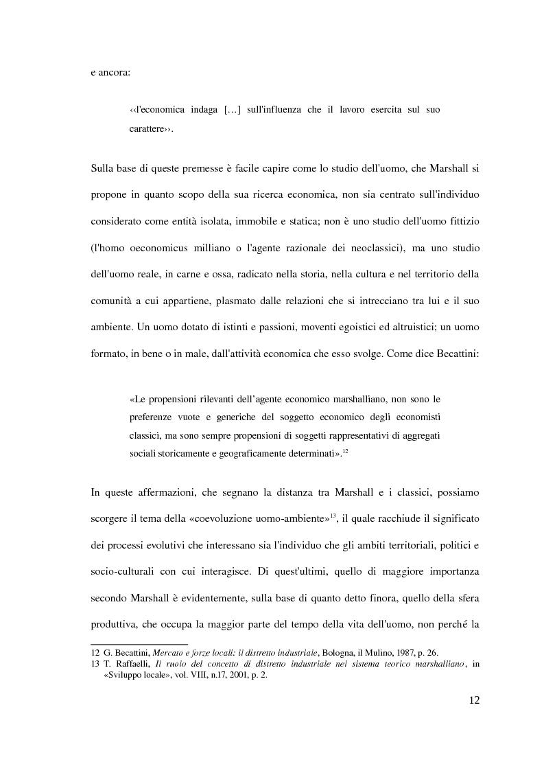 Anteprima della tesi: Il distretto industriale marshalliano, Pagina 8