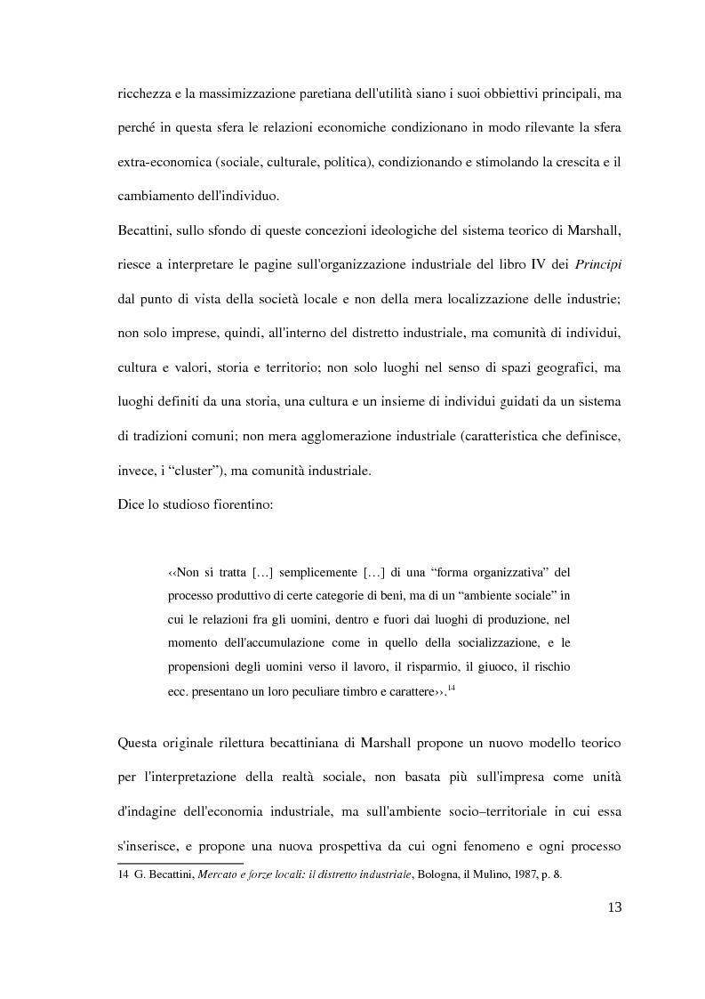 Anteprima della tesi: Il distretto industriale marshalliano, Pagina 9