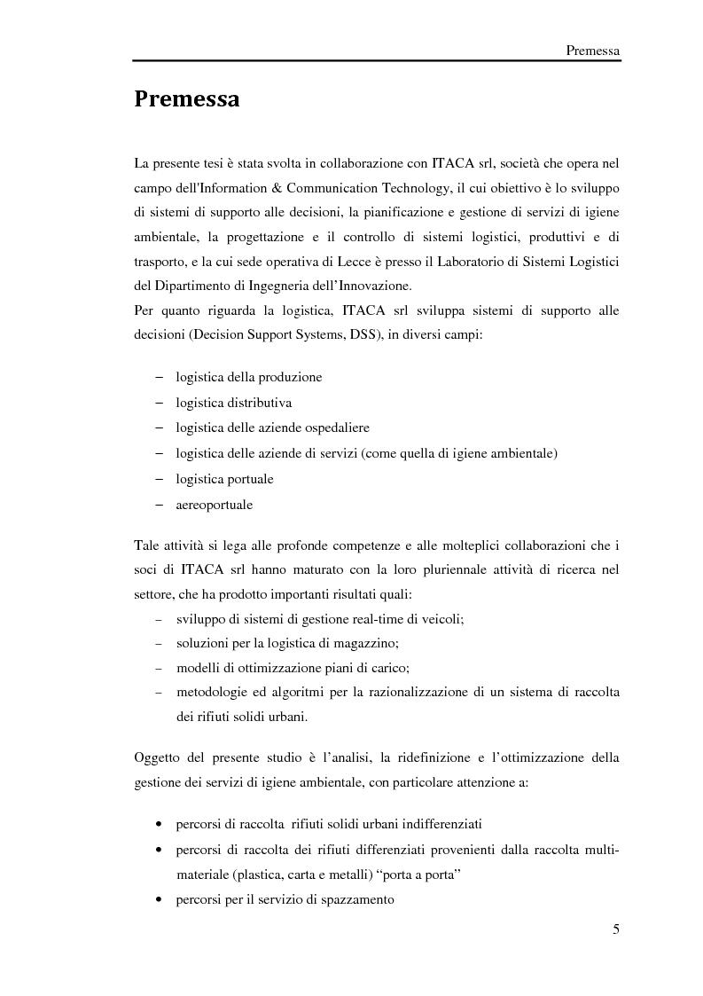 Anteprima della tesi: Pianificazione logistica basata su rilevazioni real time, Pagina 2