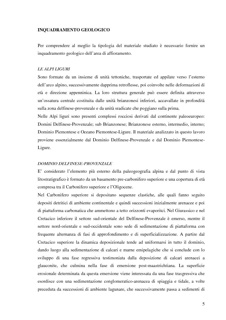 Anteprima della tesi: Valutazione dell'idoneità di materiale flyschoide da utilizzarsi per il ripascimento delle spiagge., Pagina 4