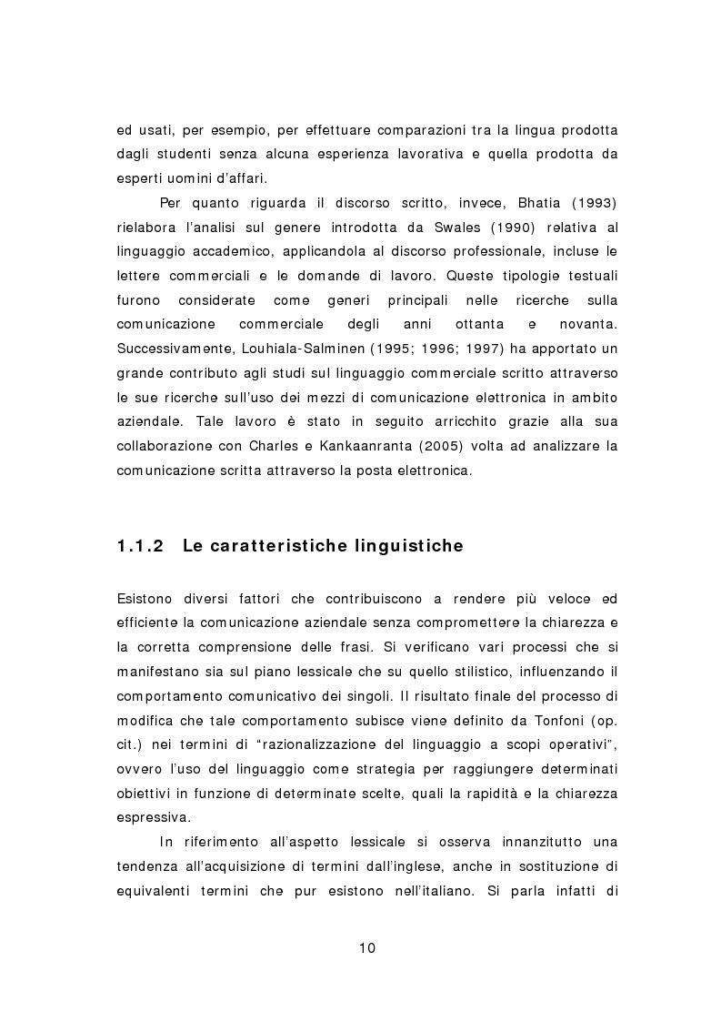 Anteprima della tesi: La comunicazione aziendale del ventunesimo secolo: analisi di un corpus di email in lingua inglese, Pagina 11
