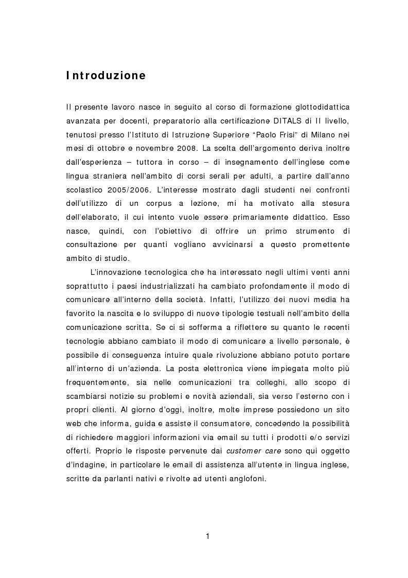Anteprima della tesi: La comunicazione aziendale del ventunesimo secolo: analisi di un corpus di email in lingua inglese, Pagina 2