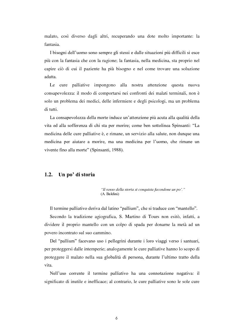 Anteprima della tesi: Psicologia e cure palliative. Storie famigliari di pazienti neoplastici in fase terminale., Pagina 10