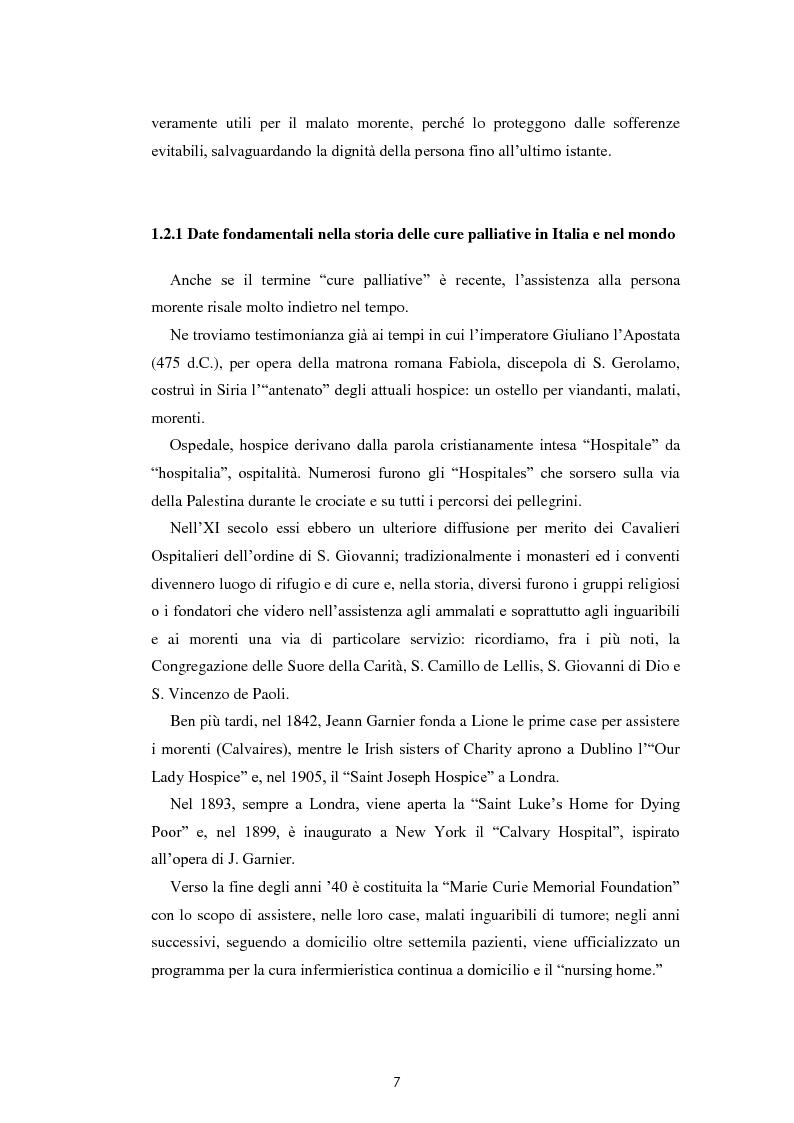 Anteprima della tesi: Psicologia e cure palliative. Storie famigliari di pazienti neoplastici in fase terminale., Pagina 11