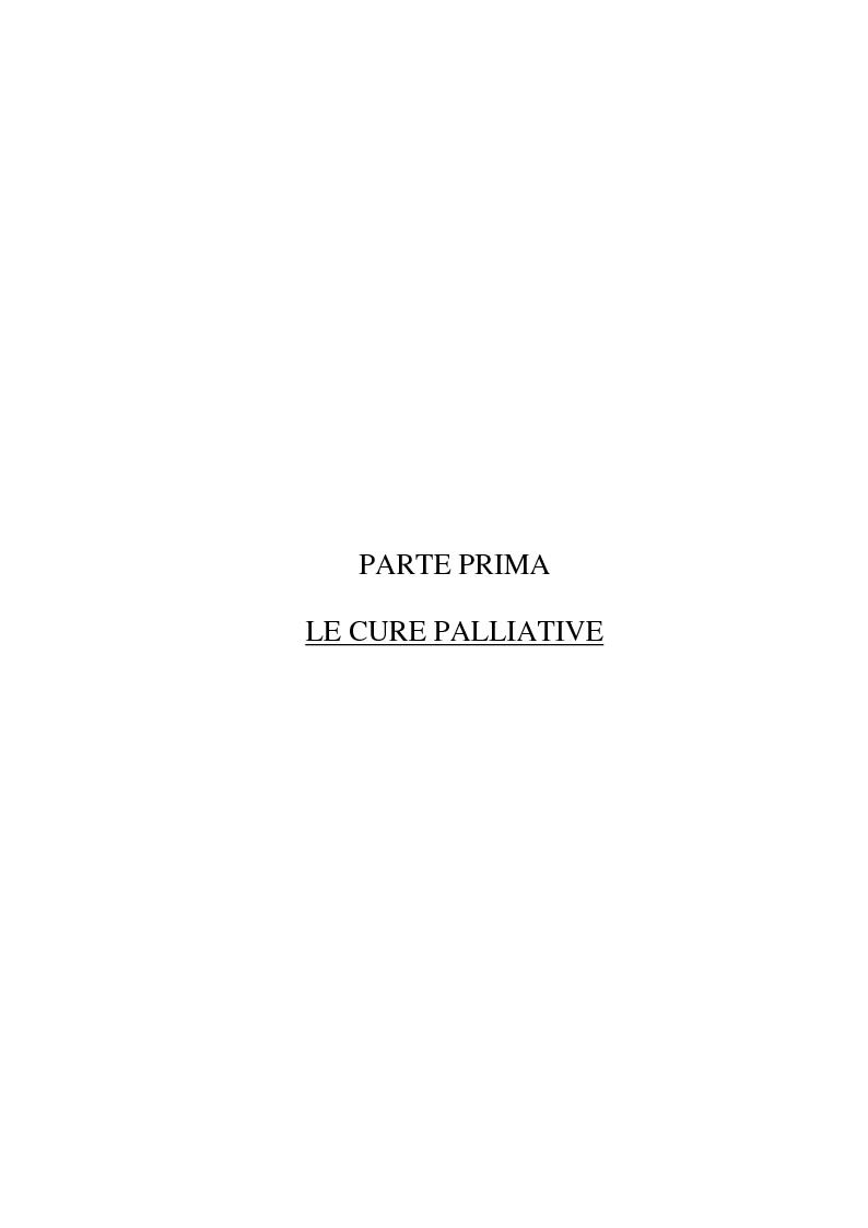 Anteprima della tesi: Psicologia e cure palliative. Storie famigliari di pazienti neoplastici in fase terminale., Pagina 5