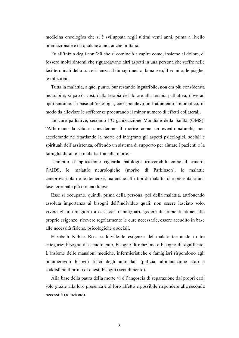 Anteprima della tesi: Psicologia e cure palliative. Storie famigliari di pazienti neoplastici in fase terminale., Pagina 7