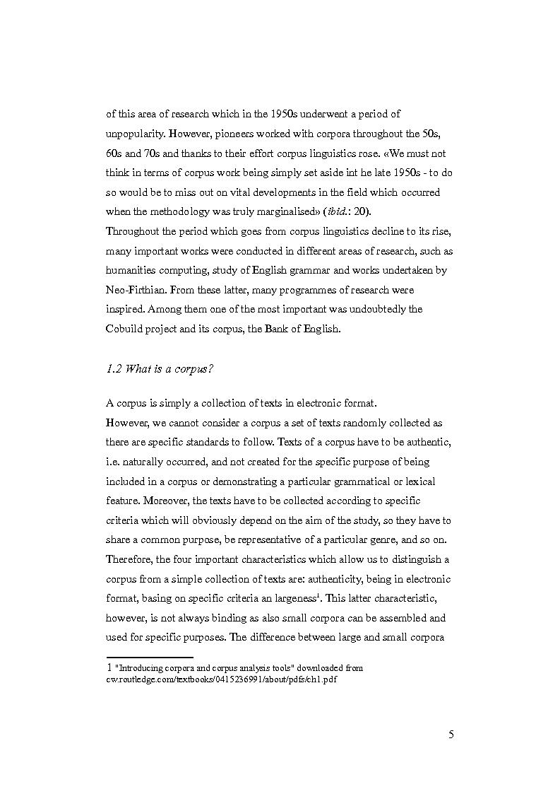 Anteprima della tesi: Promotional language for bank accounts: a corpus driven analysis through web sites comparable corpora., Pagina 6