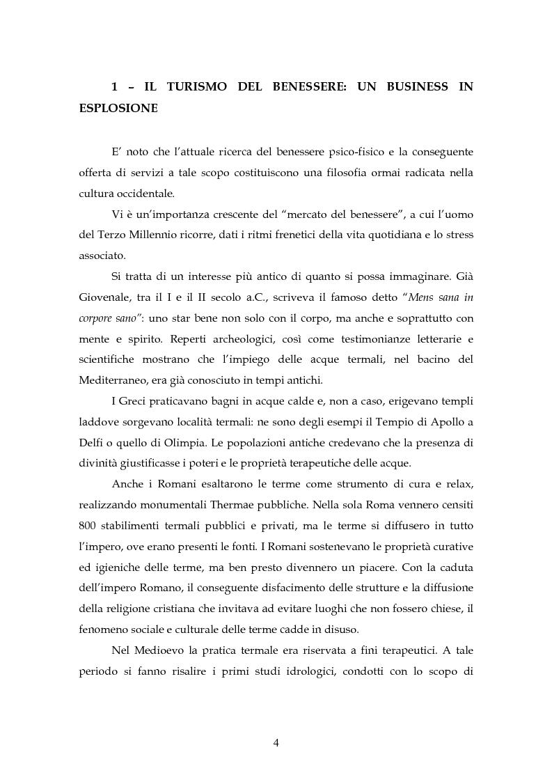 Anteprima della tesi: L'innovazione di un hotel con centro benessere, Pagina 2