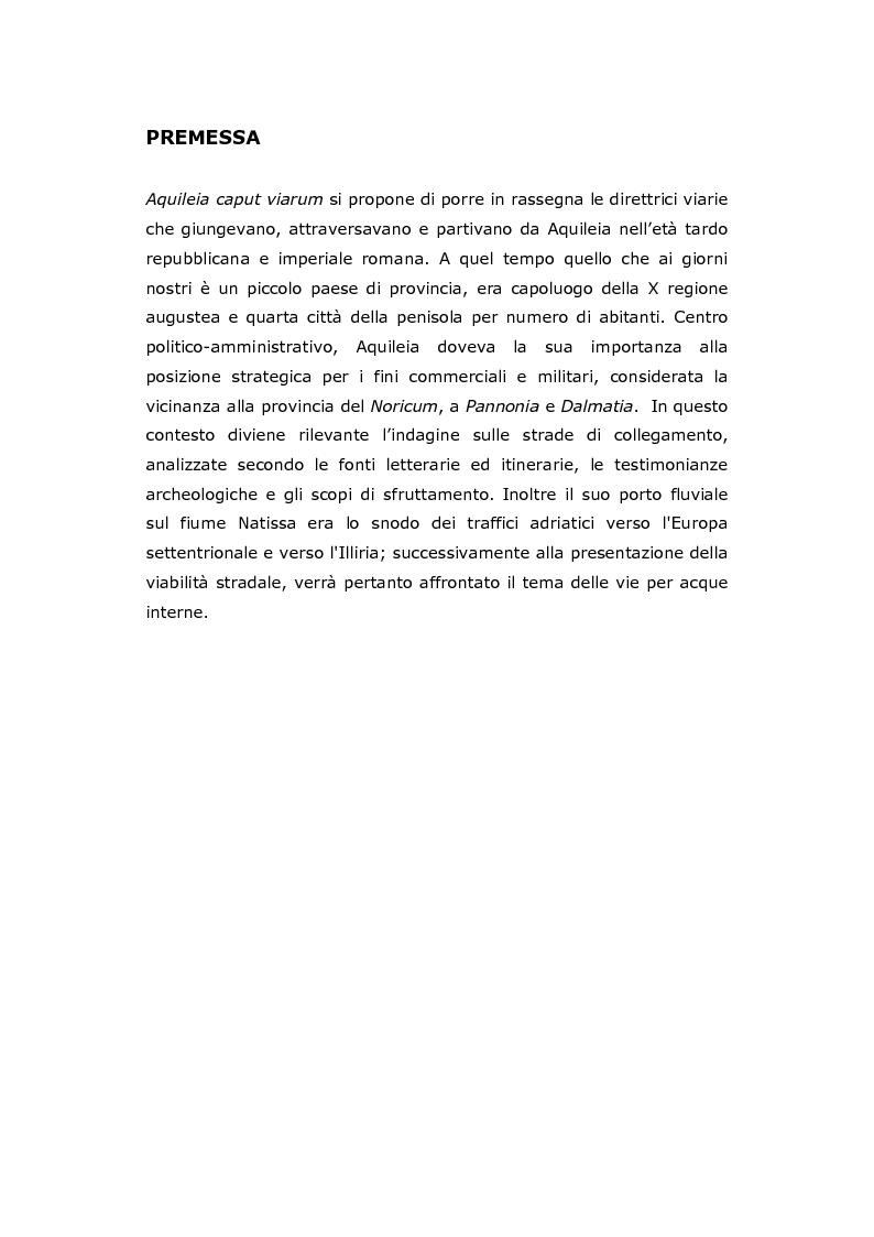 Anteprima della tesi: Aquileia Caput Viarum, Pagina 2