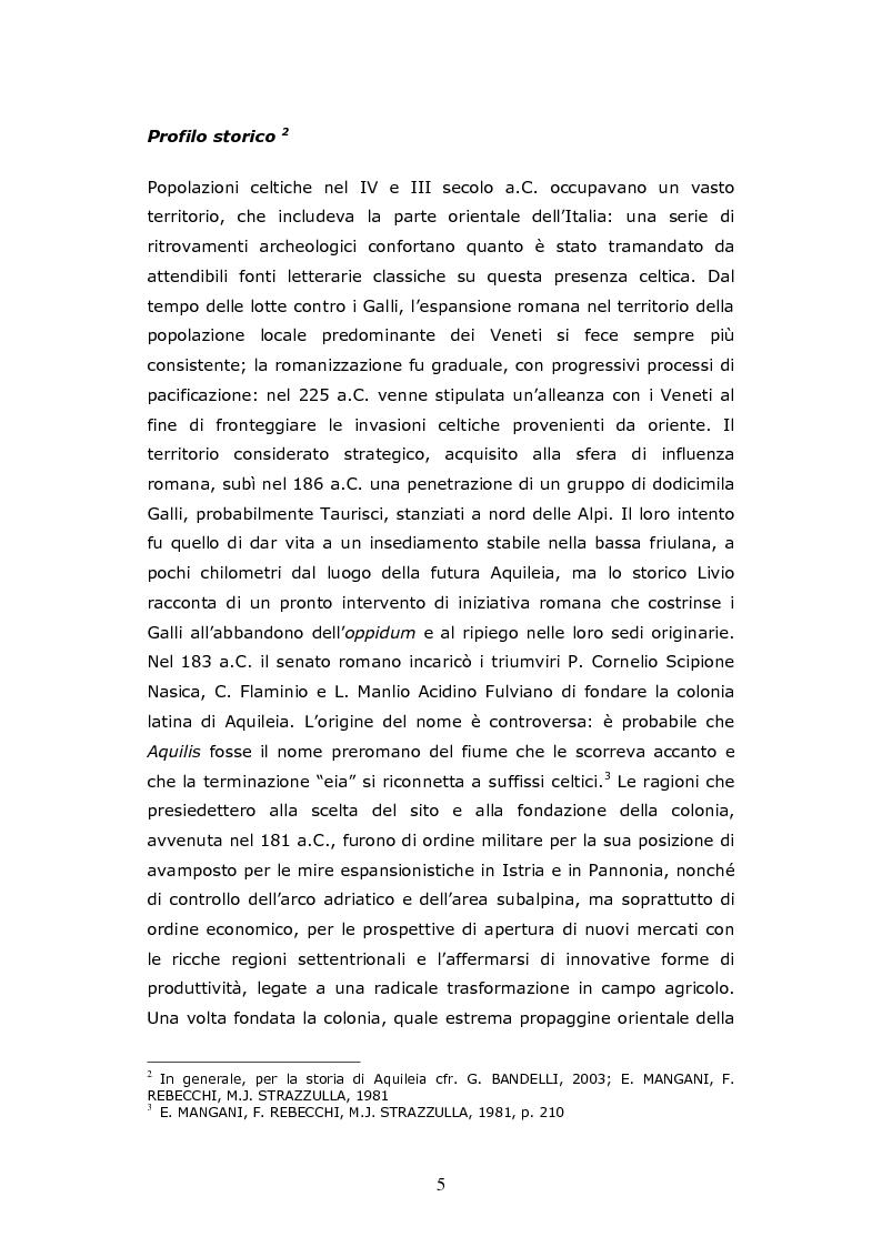 Anteprima della tesi: Aquileia Caput Viarum, Pagina 4