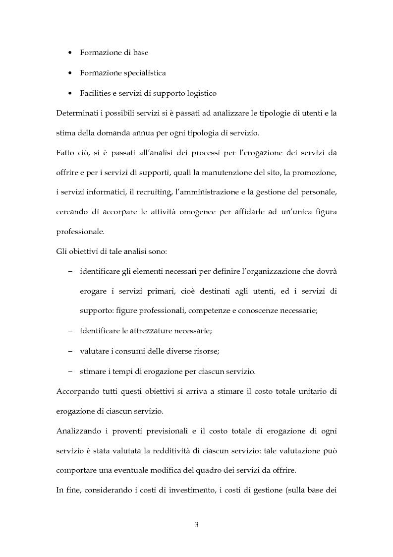Anteprima della tesi: Simulazione di Project Financing nel caso di un Incubatore Aziendale, Pagina 4