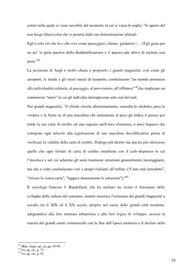 Anteprima della tesi: I nuovi luoghi del consumo. Produzione di senso e ricerca identitaria attraverso la pratica dello shopping, Pagina 3
