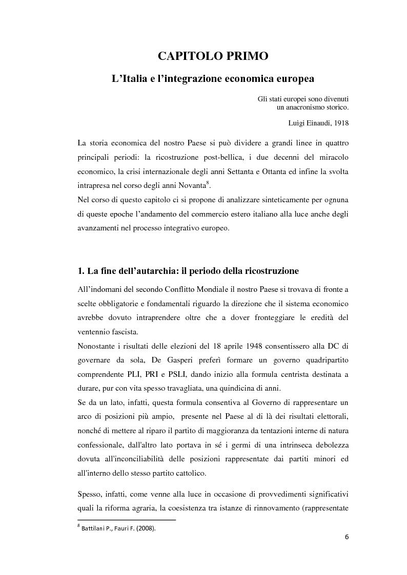 Anteprima della tesi: Integrazione Europea e diversione dei traffici: l'esperienza italiana., Pagina 7
