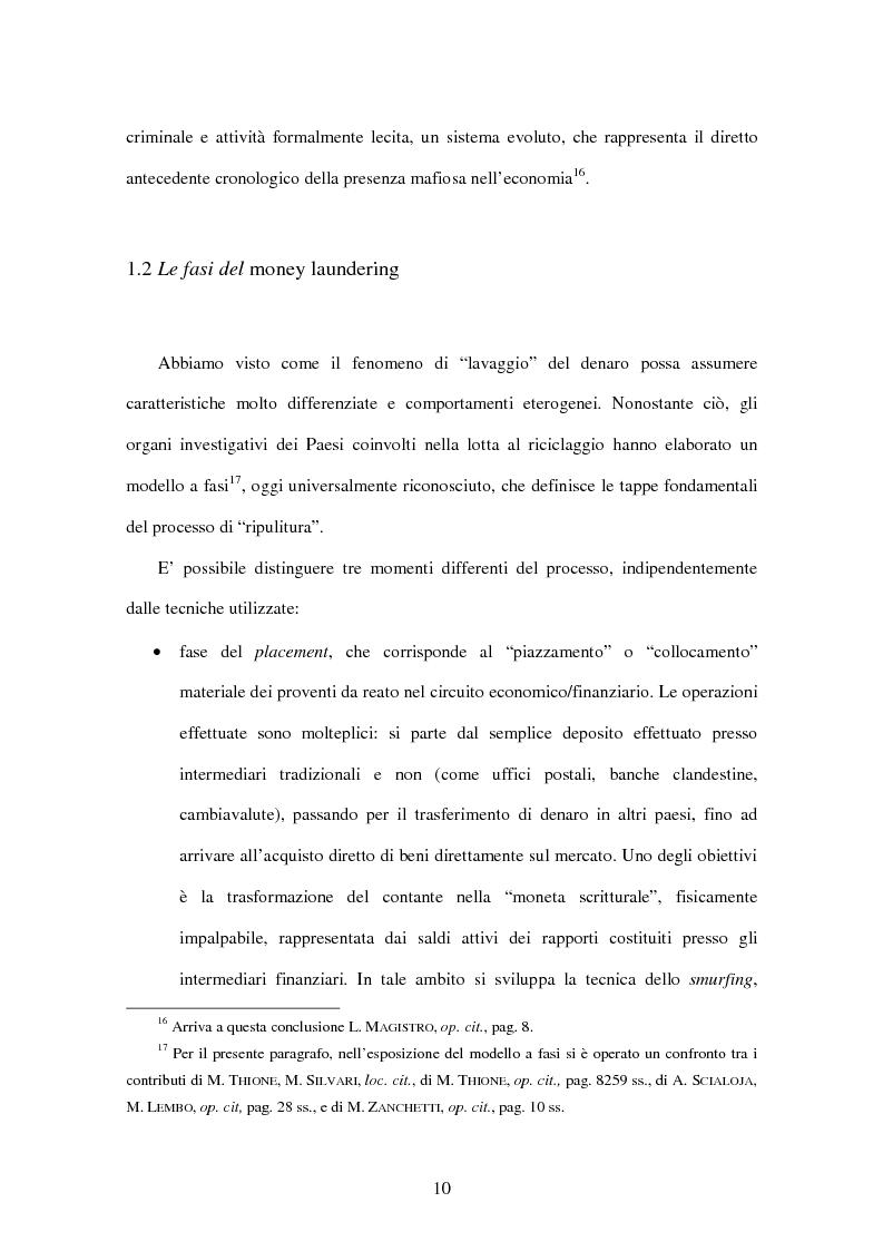 Anteprima della tesi: Gli adempimenti dei professionisti contabili per la prevenzione del riciclaggio, Pagina 11