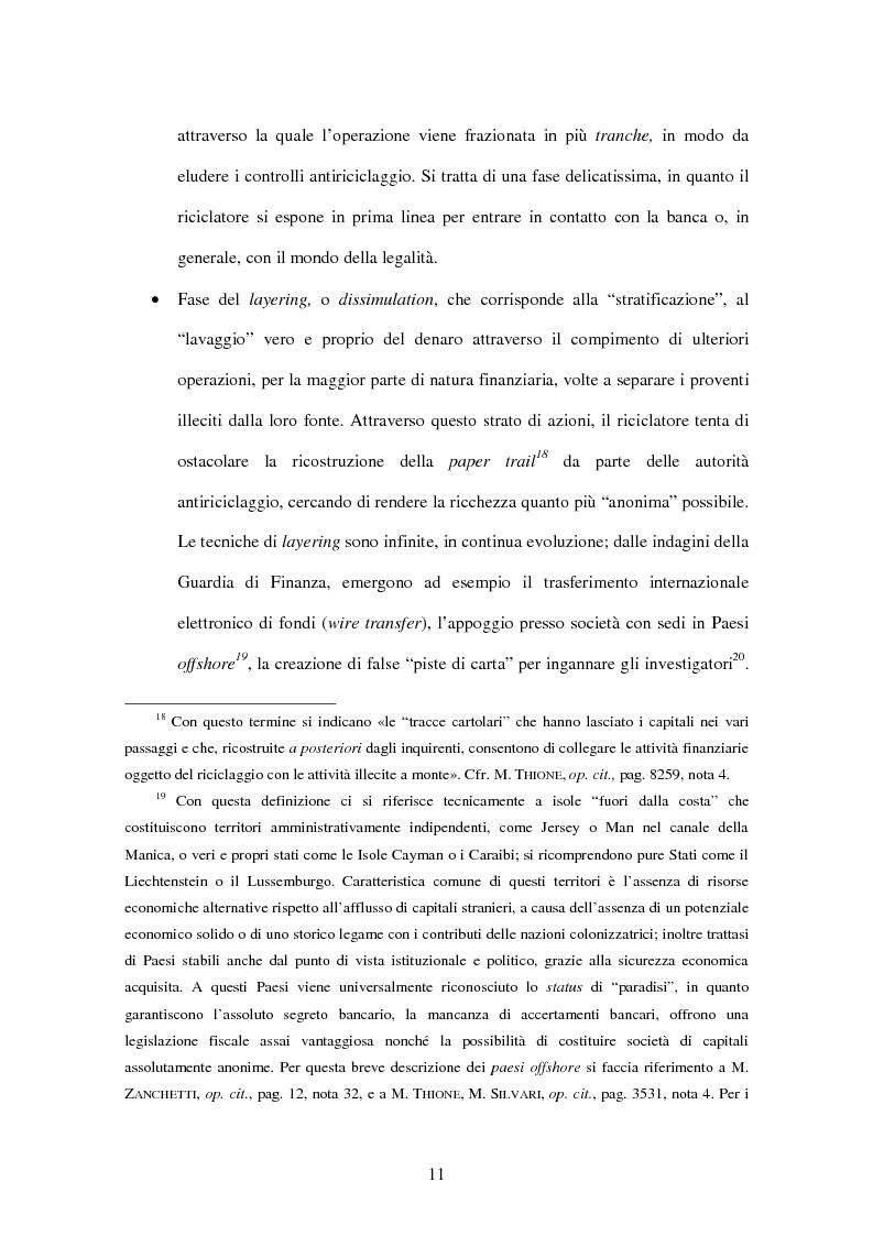 Anteprima della tesi: Gli adempimenti dei professionisti contabili per la prevenzione del riciclaggio, Pagina 12