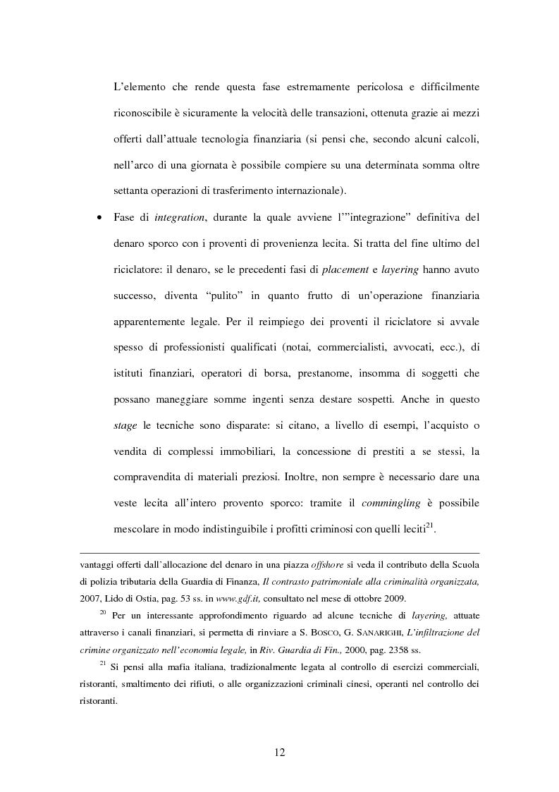 Anteprima della tesi: Gli adempimenti dei professionisti contabili per la prevenzione del riciclaggio, Pagina 13