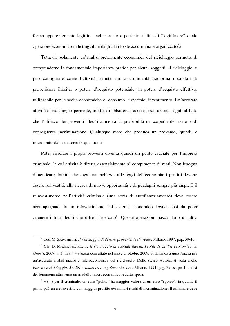 Anteprima della tesi: Gli adempimenti dei professionisti contabili per la prevenzione del riciclaggio, Pagina 8