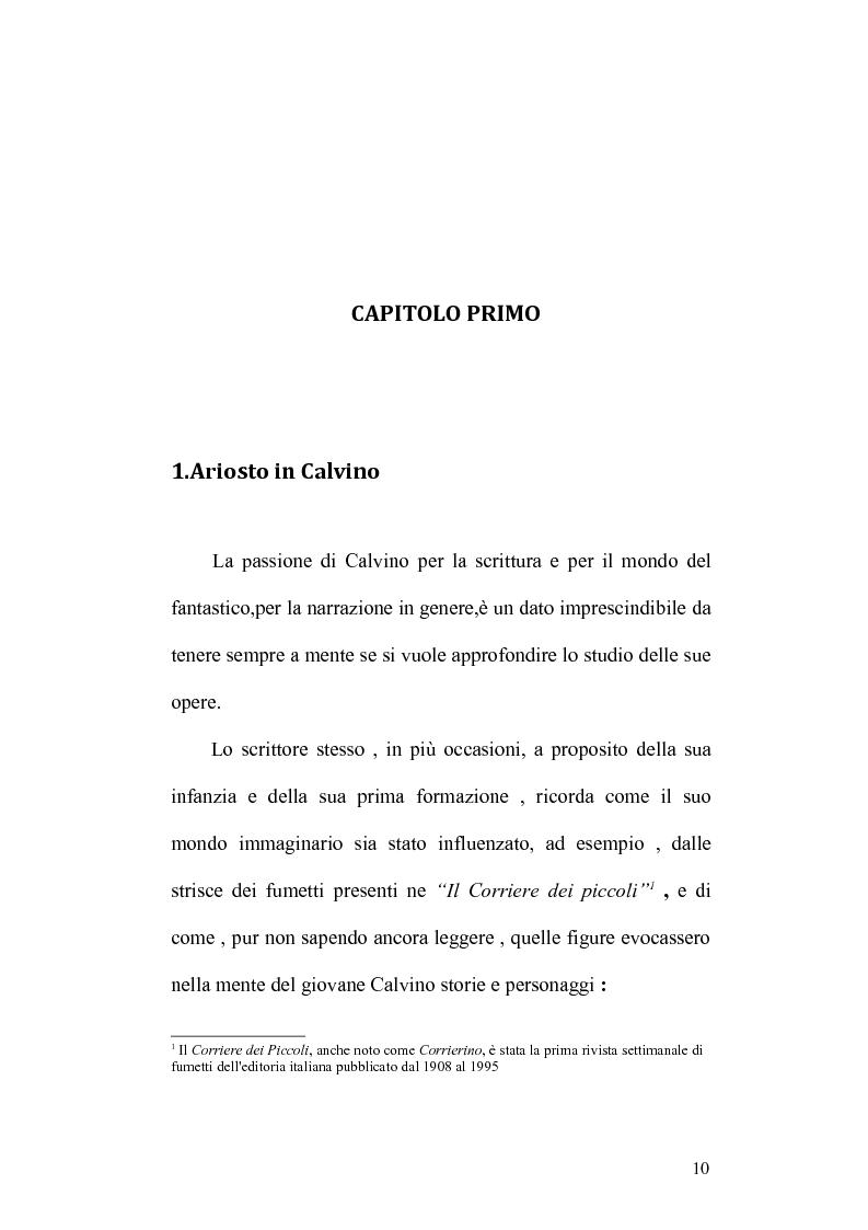 Anteprima della tesi: Presenze di Ludovico Ariosto nella narrativa di Italo Calvino, Pagina 10