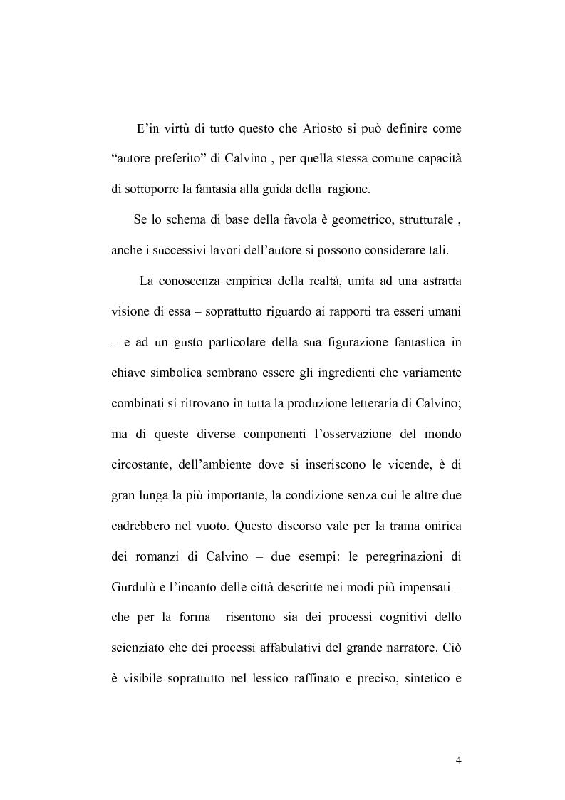 Anteprima della tesi: Presenze di Ludovico Ariosto nella narrativa di Italo Calvino, Pagina 4