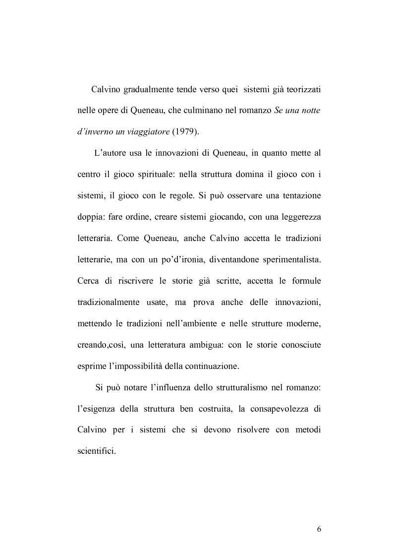 Anteprima della tesi: Presenze di Ludovico Ariosto nella narrativa di Italo Calvino, Pagina 6