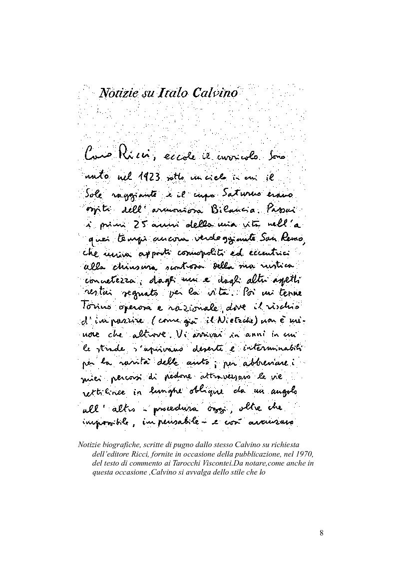 Anteprima della tesi: Presenze di Ludovico Ariosto nella narrativa di Italo Calvino, Pagina 8