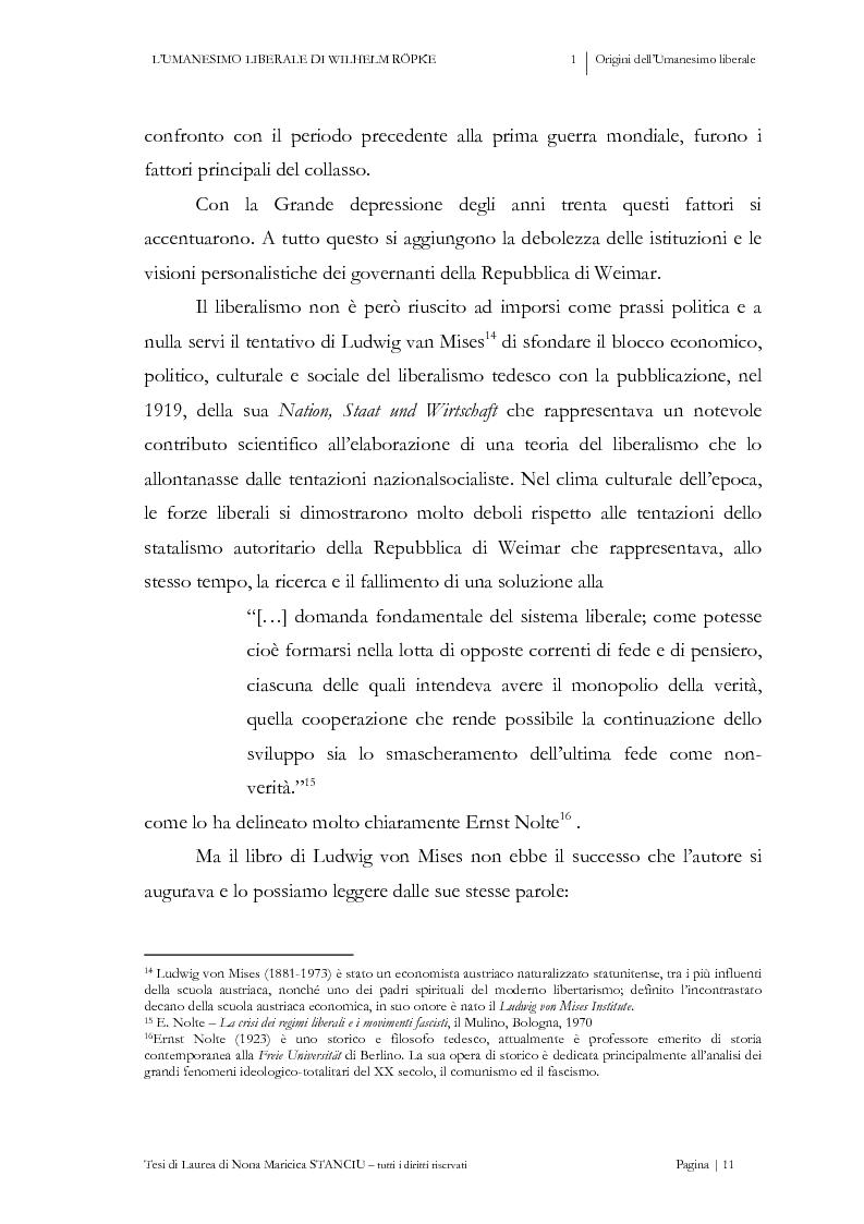 Anteprima della tesi: L'Umanesimo Liberale di Wilhelm Röpke, Pagina 10