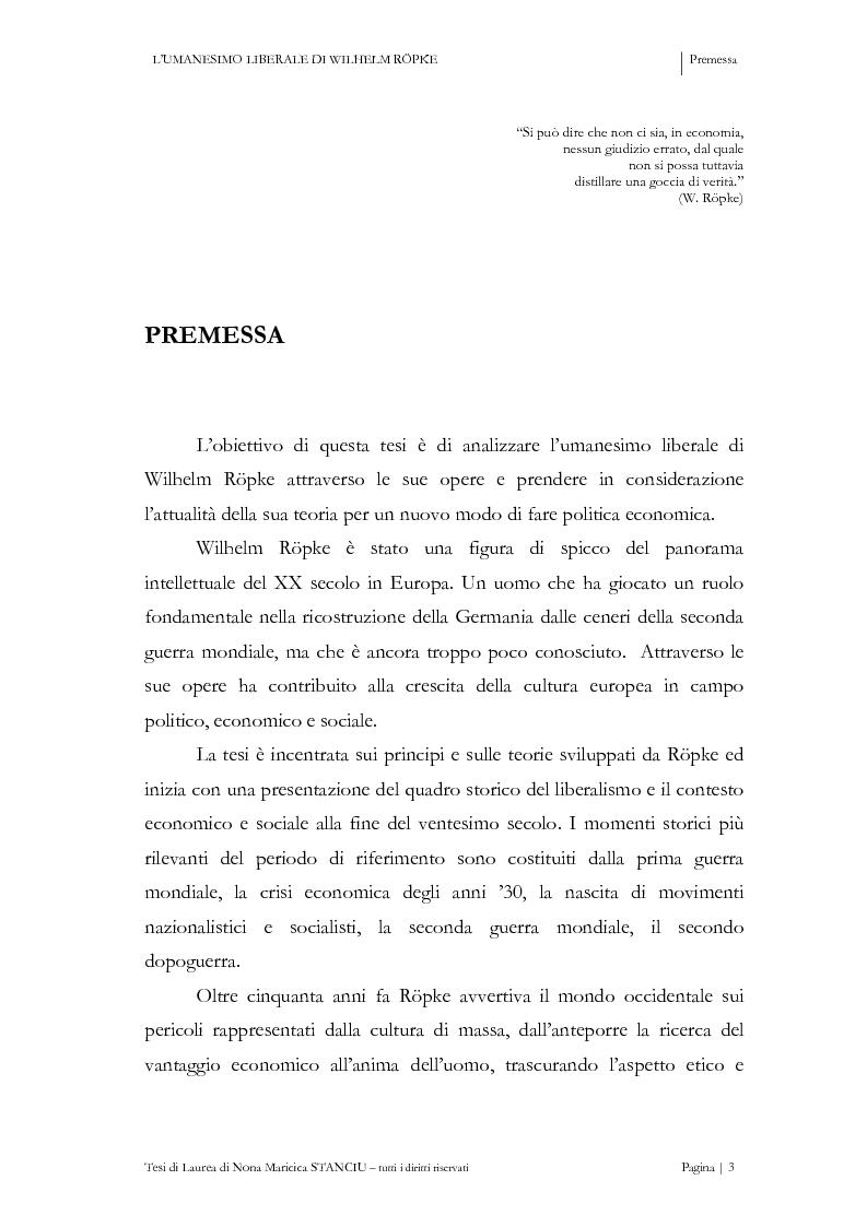 Anteprima della tesi: L'Umanesimo Liberale di Wilhelm Röpke, Pagina 2