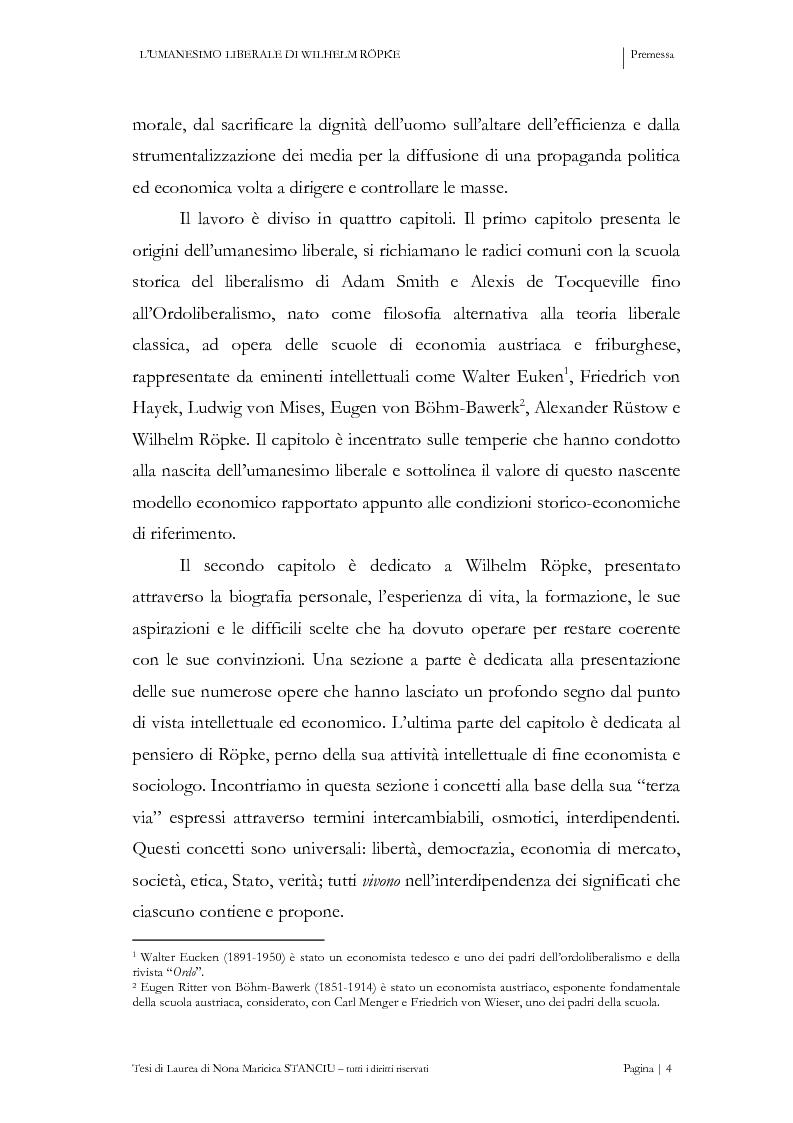Anteprima della tesi: L'Umanesimo Liberale di Wilhelm Röpke, Pagina 3