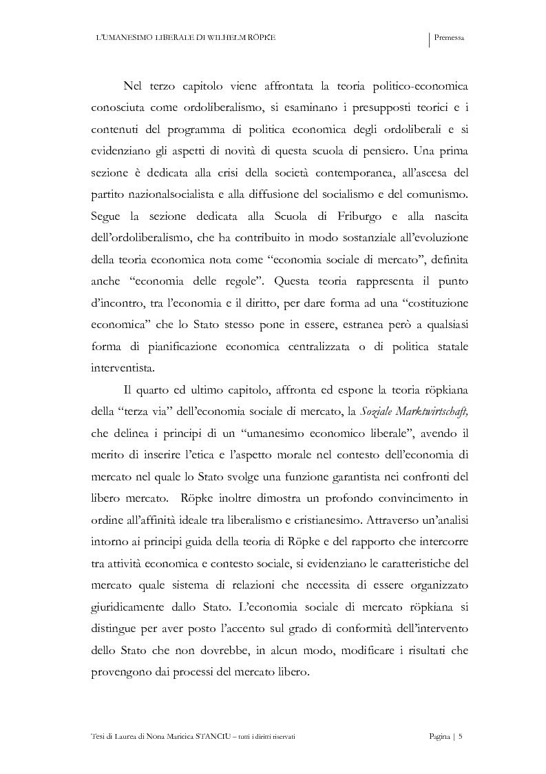 Anteprima della tesi: L'Umanesimo Liberale di Wilhelm Röpke, Pagina 4