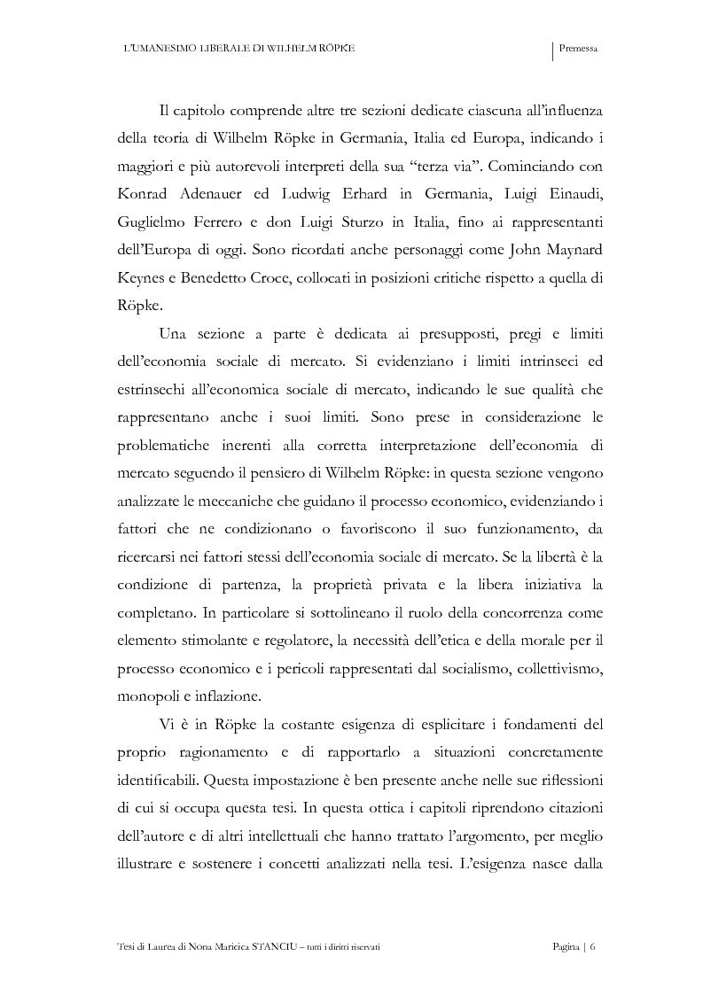 Anteprima della tesi: L'Umanesimo Liberale di Wilhelm Röpke, Pagina 5
