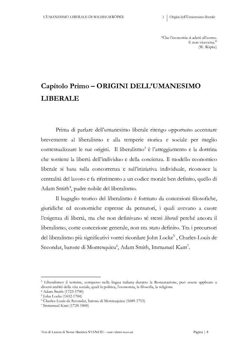 Anteprima della tesi: L'Umanesimo Liberale di Wilhelm Röpke, Pagina 7