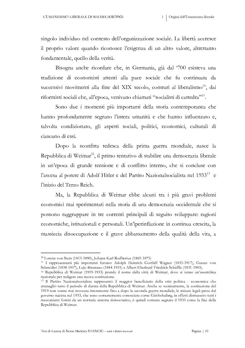 Anteprima della tesi: L'Umanesimo Liberale di Wilhelm Röpke, Pagina 9