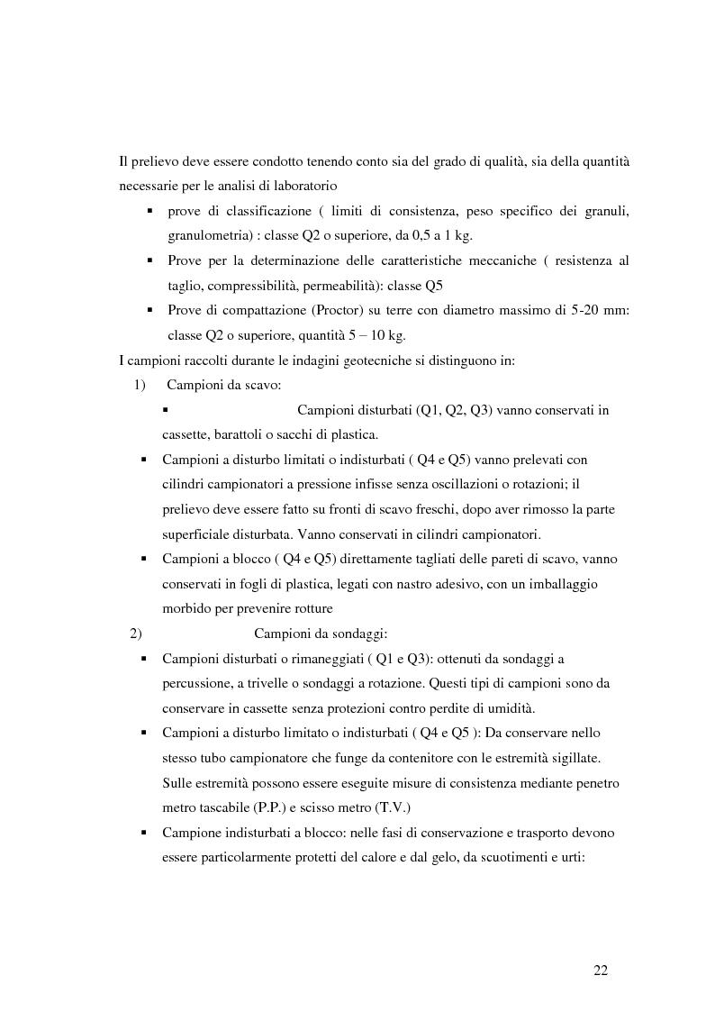 Estratto dalla tesi: Caratterizzazione geologica e geotecnica di un sito per la realizzazione di un parco eolico