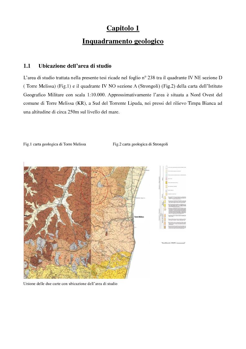 Anteprima della tesi: Caratterizzazione geologica e geotecnica di un sito per la realizzazione di un parco eolico, Pagina 2