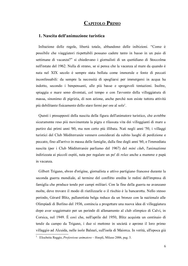 Anteprima della tesi: L'animatore turistico, Pagina 4