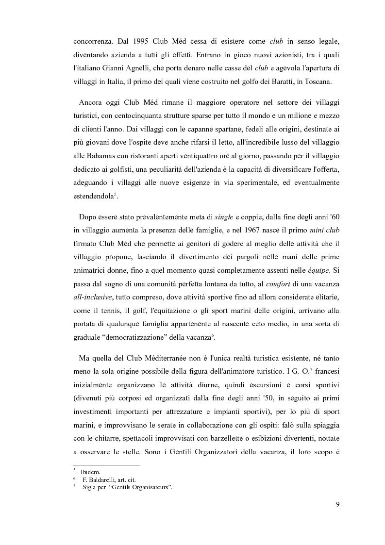 Anteprima della tesi: L'animatore turistico, Pagina 7