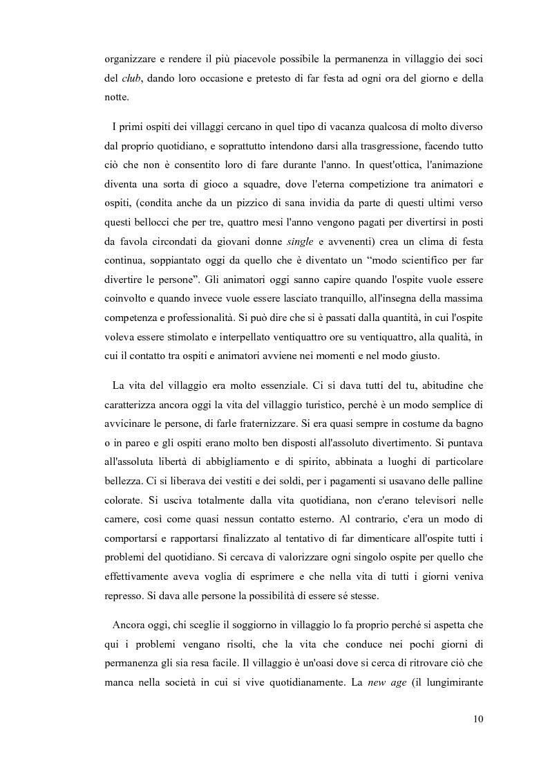 Anteprima della tesi: L'animatore turistico, Pagina 8