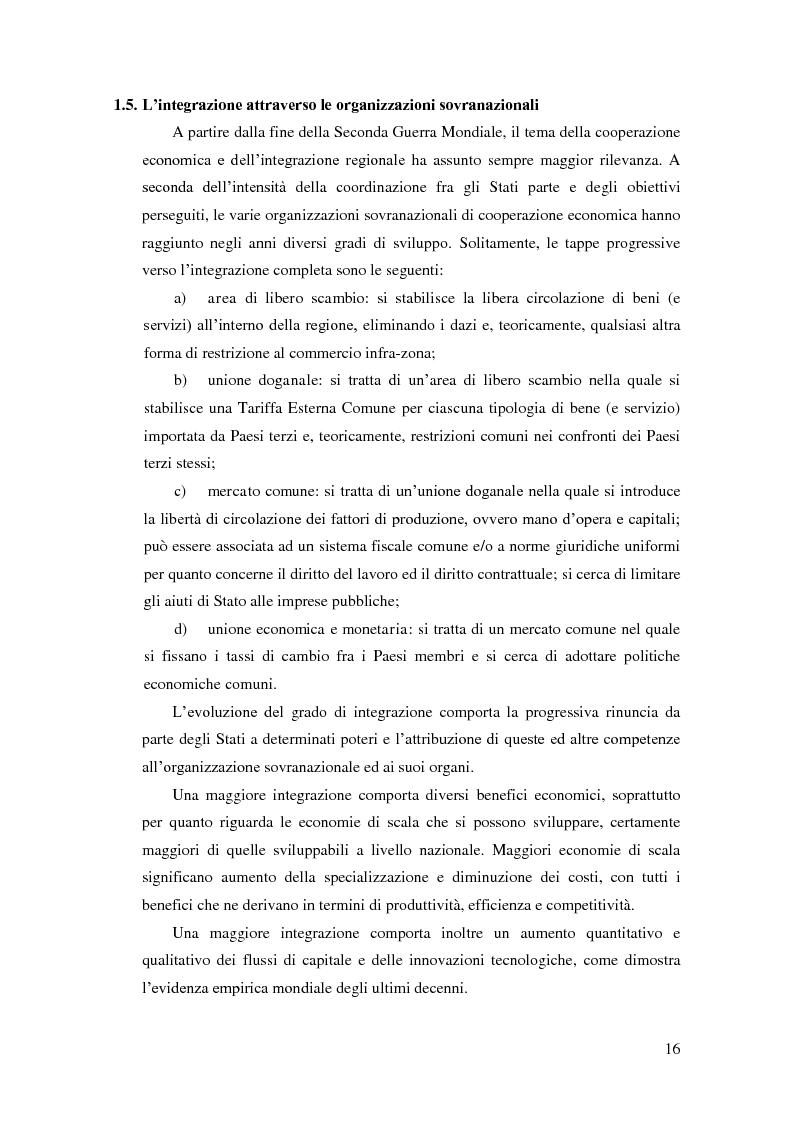 """Anteprima della tesi: Barriere non tariffarie ed altre """"imperfezioni"""" del Mercosur: implicazioni per l'Uruguay, Pagina 14"""