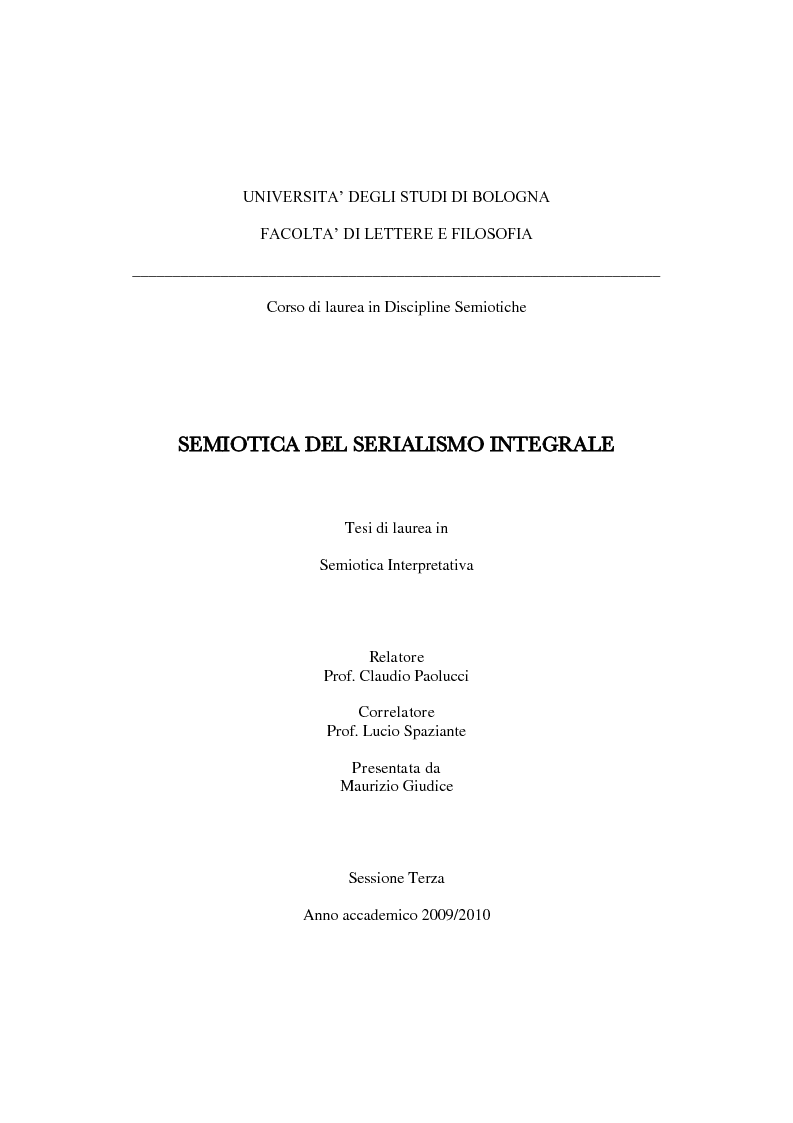 Anteprima della tesi: Semiotica del serialismo integrale, Pagina 1