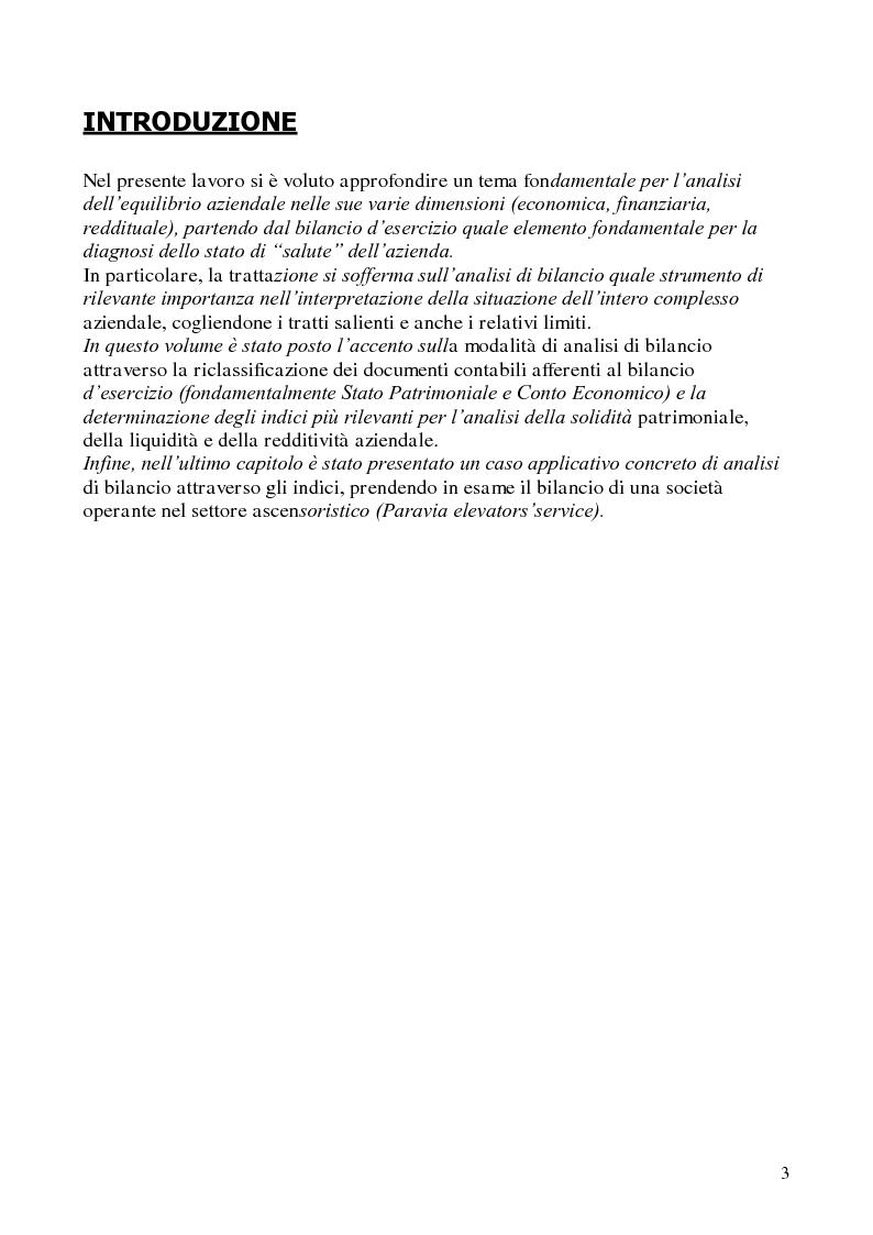 Anteprima della tesi: L'analisi di bilancio per indici. Evidenze teoriche e riscontri empirici, Pagina 2