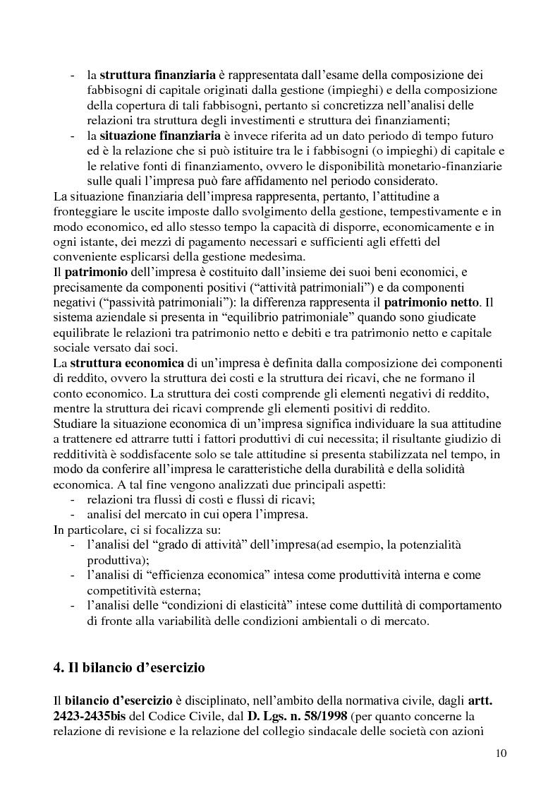Anteprima della tesi: L'analisi di bilancio per indici. Evidenze teoriche e riscontri empirici, Pagina 9
