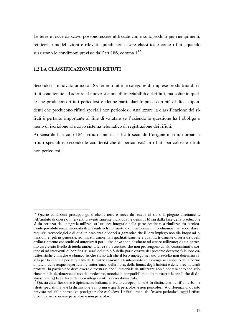 Anteprima della tesi: L'implementazione del SISTRI nella tracciabilità dei rifiuti: vantaggi e criticità, Pagina 10