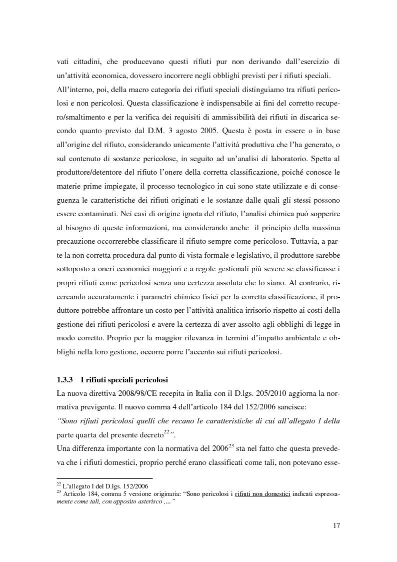 Anteprima della tesi: L'implementazione del SISTRI nella tracciabilità dei rifiuti: vantaggi e criticità, Pagina 15
